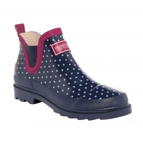 Women's Harper Low Wellington Boots Navy Vivacious