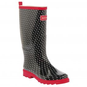 Women's Fairweather Wellington Boots Black Lollipop