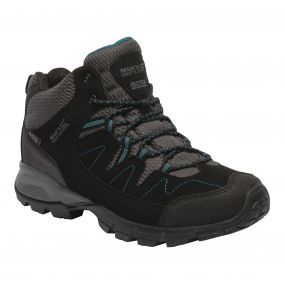 Women's Holcombe Mid Walking Boots Black Deep Lake