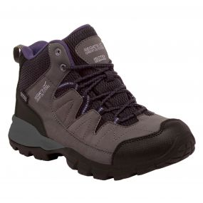 Women's Holcombe Mid Walking Boots Shark Blackberry