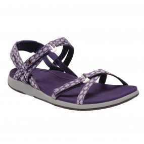 Women's Santa Monica Sandals Rum Paisly Purple