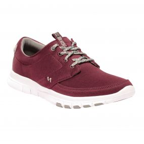 Women's Marine Lightweight Canvas Shoes Black Cherry Dark Steel