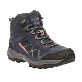 Women's Clydebank Mid Hiking Boots Navy Ash Rose