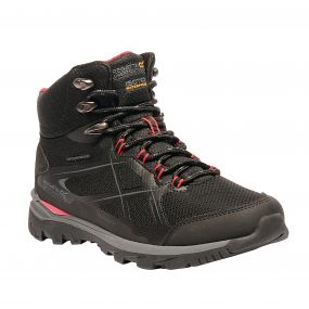 Women's Kota Mid Walking Boots Black Rosebud