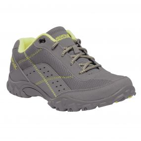 Women's Stonegate Walking Shoes Rock Grey Lime Fizz