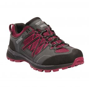 Women's Samaris II Low Hiking Shoes Dark Cerise Ash