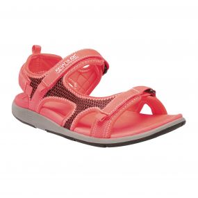 Women's Ad-Flo Sandals Fiery Coral White
