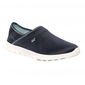 Women's Coral Lightweight Slip On Shoes Navy Stone