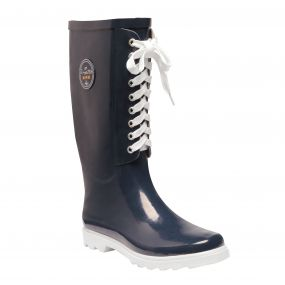 Women's Bayeux ll Mid Calf Wellington Boots Navy White