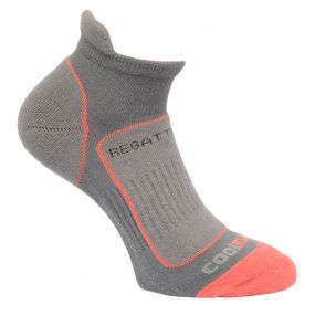 Womens Trail Runner Socks Steel