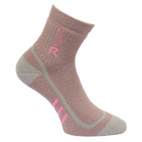 Womens 3 Season Heavyweight Trek and Trail Socks TwilightMuave Rose