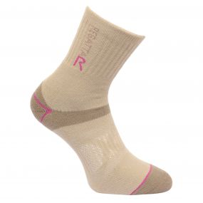 Womens' Blister Protection Sock Taupe Viola