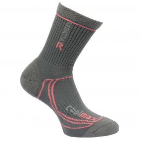 Women's 2 Season Coolmax Trek & Trail Socks Iron Coral