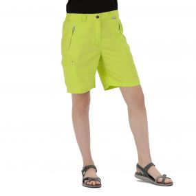 Chaska Lightweight Multi Pocket Shorts Lime Zest