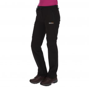 Womens Xert Stretch Zip-Off Trousers II Black