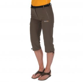 Womens Xert Stretch Capris II Roasted