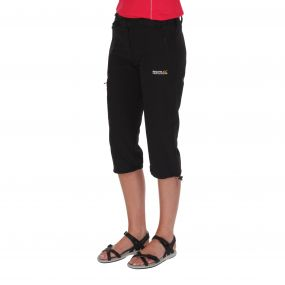 Womens Xert Stretch Capris II Black