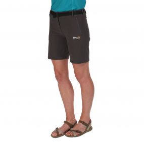 Womens Xert Stretch Shorts II Seal Grey
