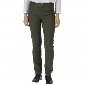 Damira Cotton Trousers Dark Khaki