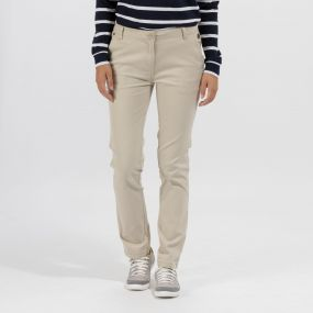 Querina Coolweave Chino Trousers Warm Beige