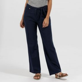 Quinetta Coolweave Trousers Navy