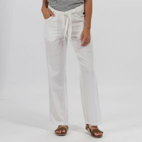 Quinetta Coolweave Trousers White