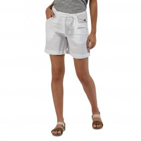 Samarah Coolweave Cotton Shorts Short White