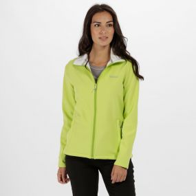 Connie III FunneII Neck SoftShell Lime Zest White
