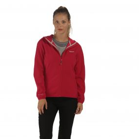 Women's Arec Stretch Hooded Softshell Jacket Dark Cerise Duchess