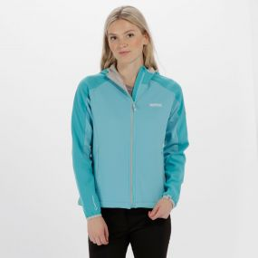 Women's Arec II Hooded Stretch Softshell Jacket Horizon Light Steel