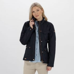 Camryn Quilted Jacket Navy