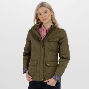 Camryn Quilted Jacket Ivy Green