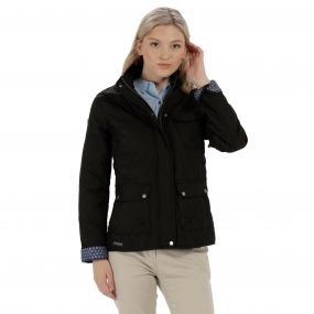 Camryn Quilted Jacket Black
