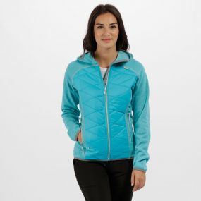 Women's Andreson III Hybrid Stretch Lightweight Insulated Jacket Aqua