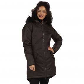 Lucetta Waterproof Insulated Parka Jacket Dark Khaki
