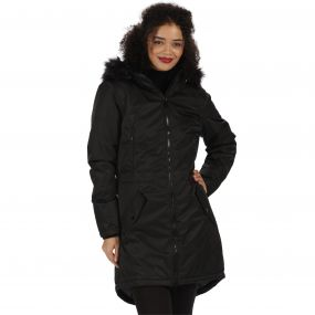 Lucetta Waterproof Insulated Parka Jacket Black