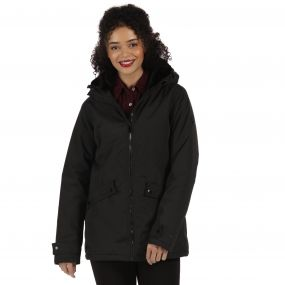 Brienna Waterproof Insulated Hooded Jacket Black