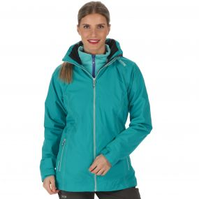 Premilla Waterproof 3-in-1 Jacket Aqua Horizon