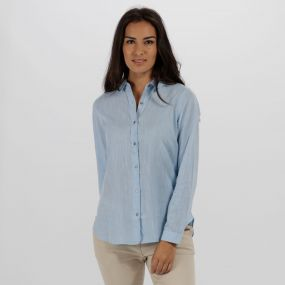 Meena Coolweave Cotton Shirt Hydrangea