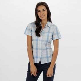 Jenna II Coolweave Cotton Checked Shirt Pluto