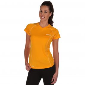 Womens Jenolan T-Shirt Gold Heat