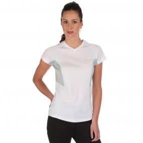 Womens Jenolan T-Shirt White   Steel