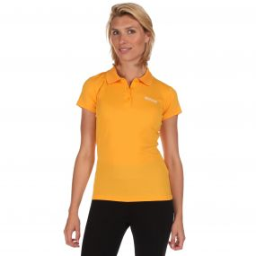 Womens Maverik III Polo Shirt Gold Heat