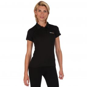 Womens Maverik III Polo Shirt Black