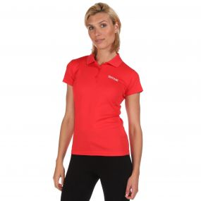 Womens Maverik III Polo Shirt Coral Blush