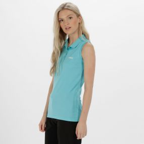 Tima Ribbed Collar T-Shirt Horizon