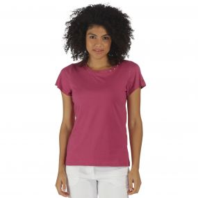 Aleesha T-Shirt Red Violet