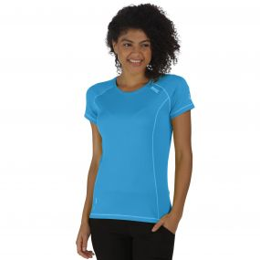 Women's Virda T-Shirt Fluro Blue