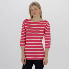 Parris Coolweave Cotton T-Shirt Hot Pink White