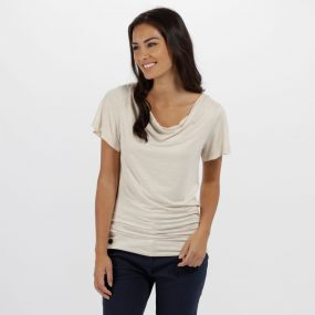 Francheska Coolweave Hybrid T-Shirt Light Vanilla